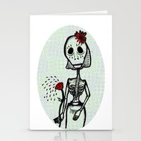 Love and bones Stationery Cards