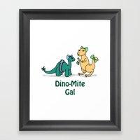 Dino-Mite Gal Framed Art Print