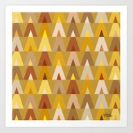 Geometric Triangles | Mu… Art Print