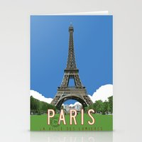 Paris Travel Poster - Vi… Stationery Cards