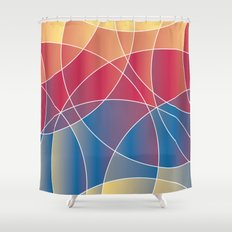 Sunset Curves Shower Curtain