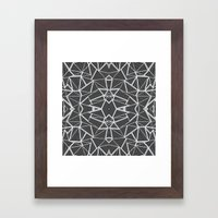 Abstract Lines Black And… Framed Art Print