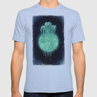 Elephants On Moon (varia… Mens Fitted Tee Athletic Blue SMALL