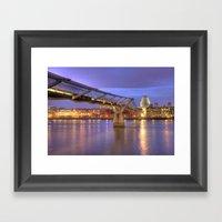 St Pauls And The Bridge Framed Art Print