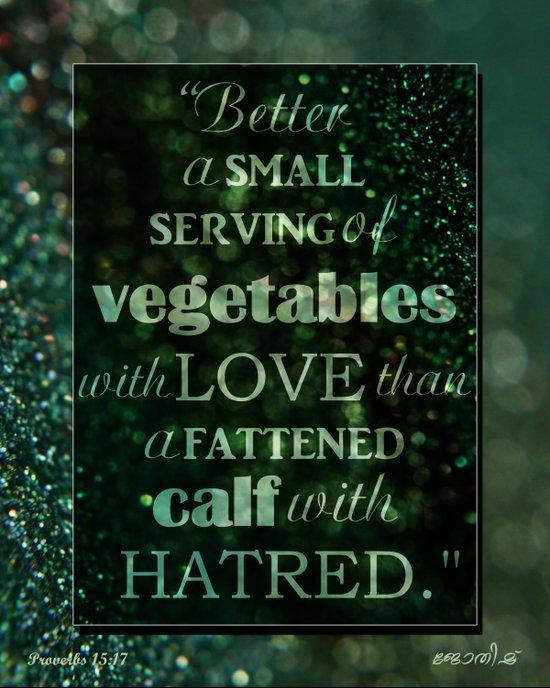 Proverbs 15:17 Art Print