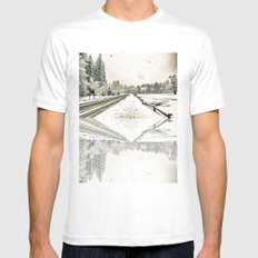 Yosemite Snowy Meadow Mens Fitted Tee SMALL White