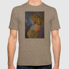 Lady Moon Mens Fitted Tee Tri-Coffee SMALL
