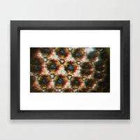 3D Kaleidoscope Framed Art Print