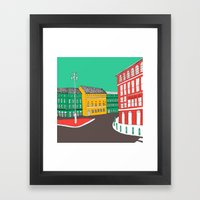 City Life // European Architecture Framed Art Print