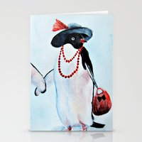 penguin Stationery Cards featuring Penguin by Anna Shell