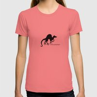 Ferret 1 Womens Fitted Tee Pomegranate SMALL