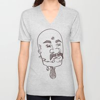 icecream man with three eyes Unisex V-Neck
