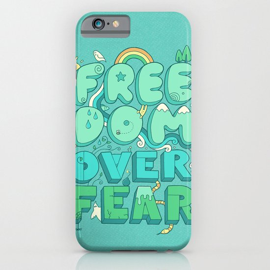 Freedom Over Fear iPhone & iPod Case