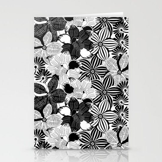 Flowers black & white serie 2 Stationery Card