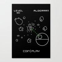 Retro Star Wars Arcade … Canvas Print