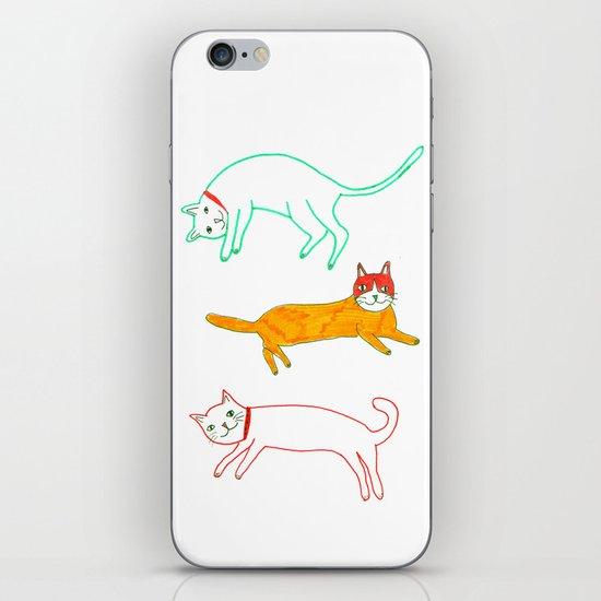 Lying cats iPhone & iPod Skin