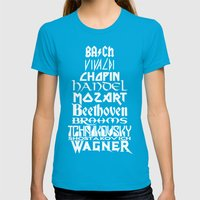 Composers Womens Fitted Tee Teal SMALL
