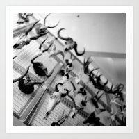 wall of horns Art Print