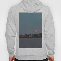 Full Strawberry Moon Rising over Rockport Hoody