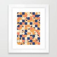 Orange & Navy  Framed Art Print