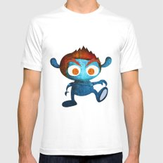 Mr. Blue Mens Fitted Tee White SMALL