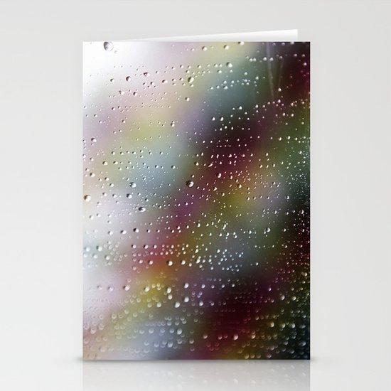 Pink Rain Stationery Card
