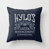 Kylo's Anger Management Counselling Throw Pillow