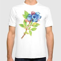 Wild Maine Blueberries Mens Fitted Tee White SMALL