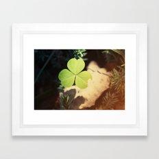 Wishing For Luck Framed Art Print