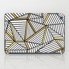 Ab Lines 2 White Gold iPad Case