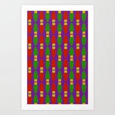 Bulb Wave Royal Art Print