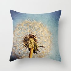 Dandelion Texture Throw Pillow