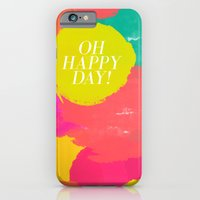 iPhone & iPod Case featuring OH HAPPY DAY! by Rebecca Allen