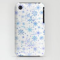 Let It Snow Winter Patte… iPhone (3g, 3gs) Slim Case