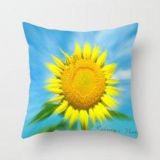 Sunflower Focus Throw Pillow