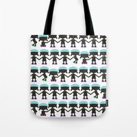 Roller Derby Paper Chain Dolls Tote Bag