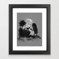 The Friendly Visitor Framed Art Print