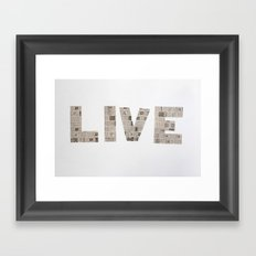 Live  Framed Art Print