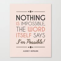 I'm Possible! Canvas Print