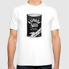 Rainbow Seeds White Mens Fitted Tee SMALL