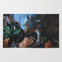 Autumn Squirrel  Rug
