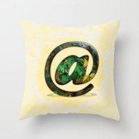 At Sign {@} Series - Cooper Std Typeface Throw Pillow