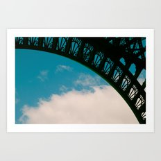 Detail of Eiffel. Art Print