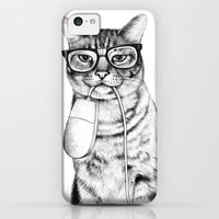 iPhone 5c Cases featuring Mac Cat by florever