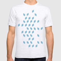rhombus bomb in dusk blue Mens Fitted Tee Ash Grey SMALL