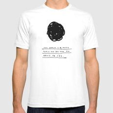 THIS WORLD Mens Fitted Tee White SMALL