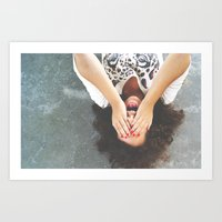 Drop Your Worries Art Print