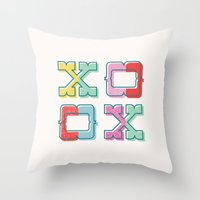 Color-Blocked XOXO Throw Pillow