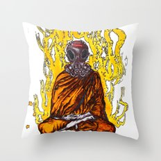 The Masked Monk Throw Pillow