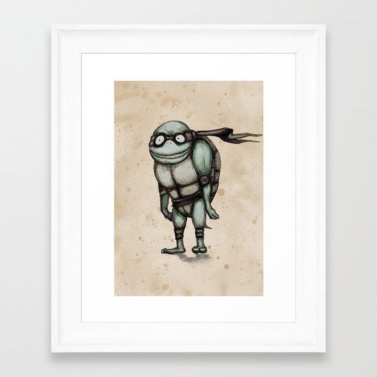 Teenage Mutant Burton Turtle Framed Art Print